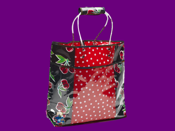 Handmade Mexican Oilcloth vinyle tote bags for sales, cereza studio, Tucson