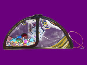 Flat Taco Bag, Purple on Purple for Product Grid