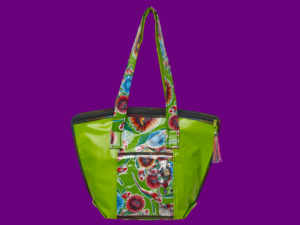 Shop Oilcloth Small Tote Bag of Mexican Oilcloth by Cereza Studio
